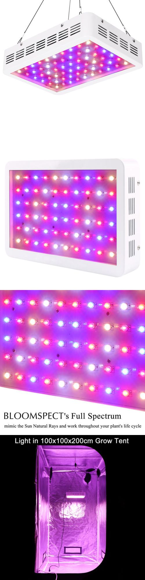 Grow Light Kits 178989 Bloomspect 300w Led Grow Light Full Spectrum For Indoor Plant Veg And Flower Buy It Now On Led Grow Lights Grow Lights Indoor Plants