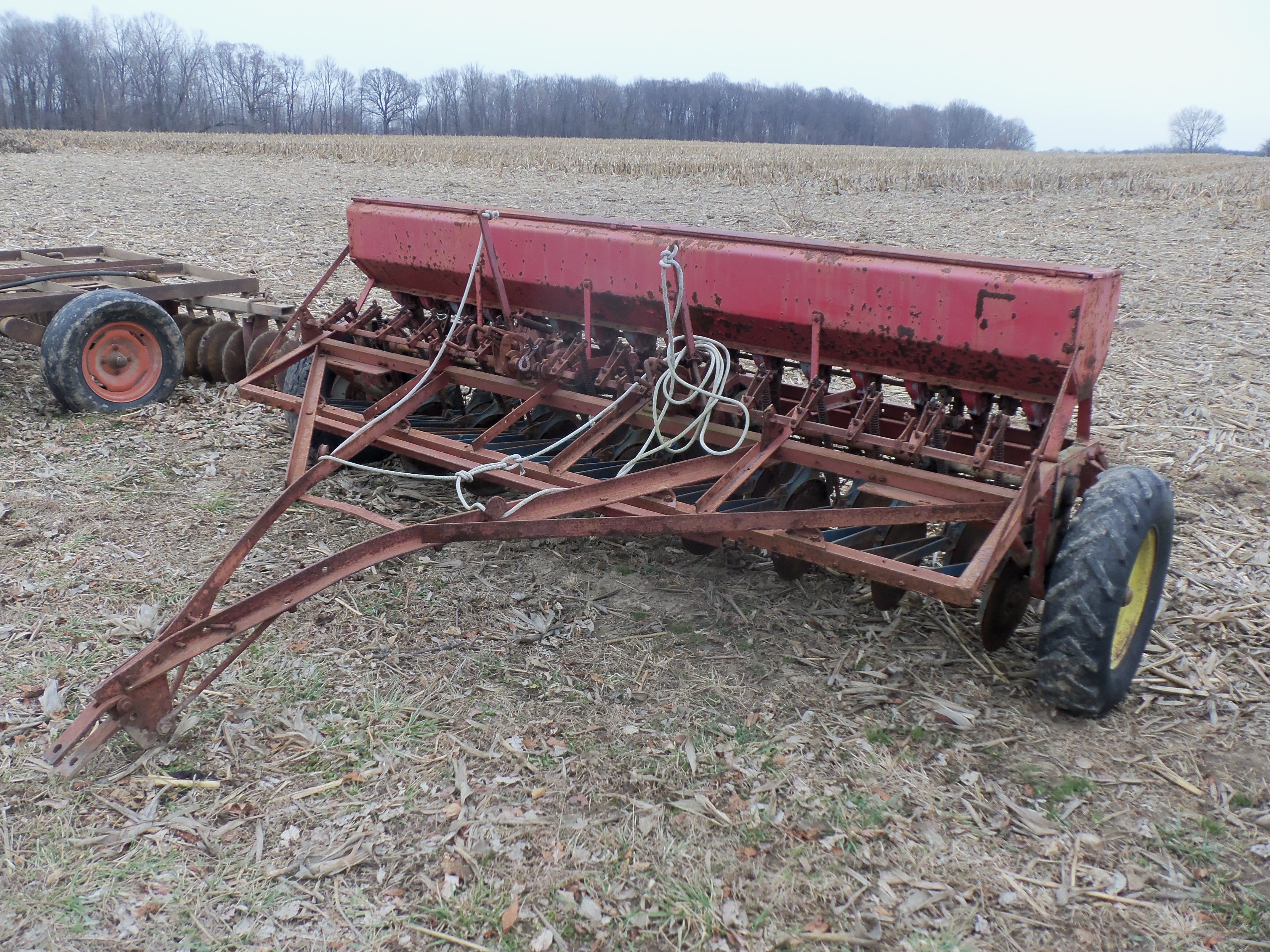 Old Mccormick Grain Drill International Harvester Farmall Drill