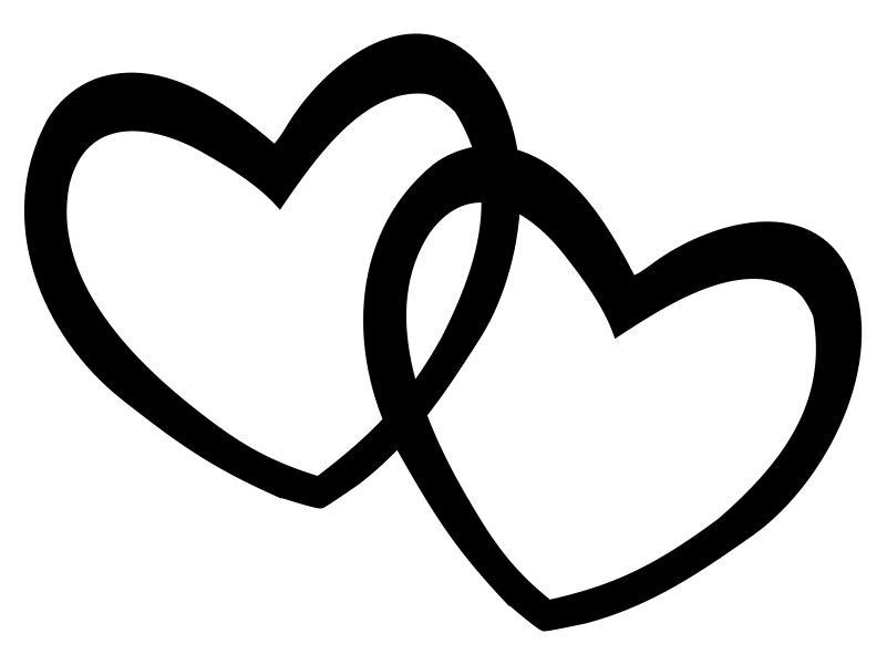 Hearts Double Heart Clipart Black And White Valentine Week 6 Heart Clip Art Clip Art Clipart Black And White