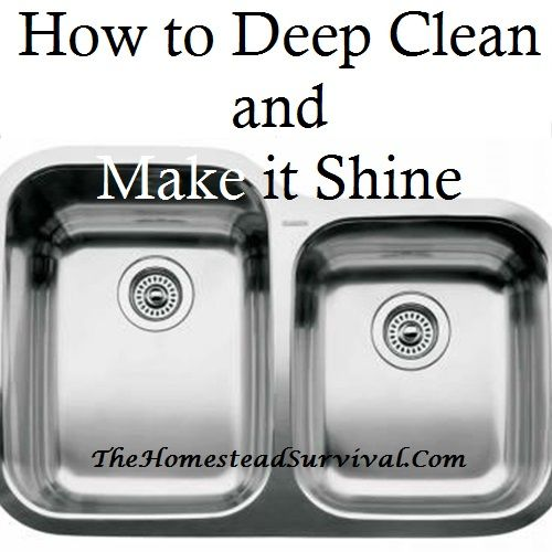 Kitchen Sink: How To Deep Clean And Make It Shine