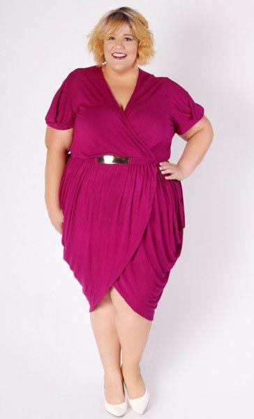 Plus Size Clothing For Women Jessica Kane Magenta Tulip Dress