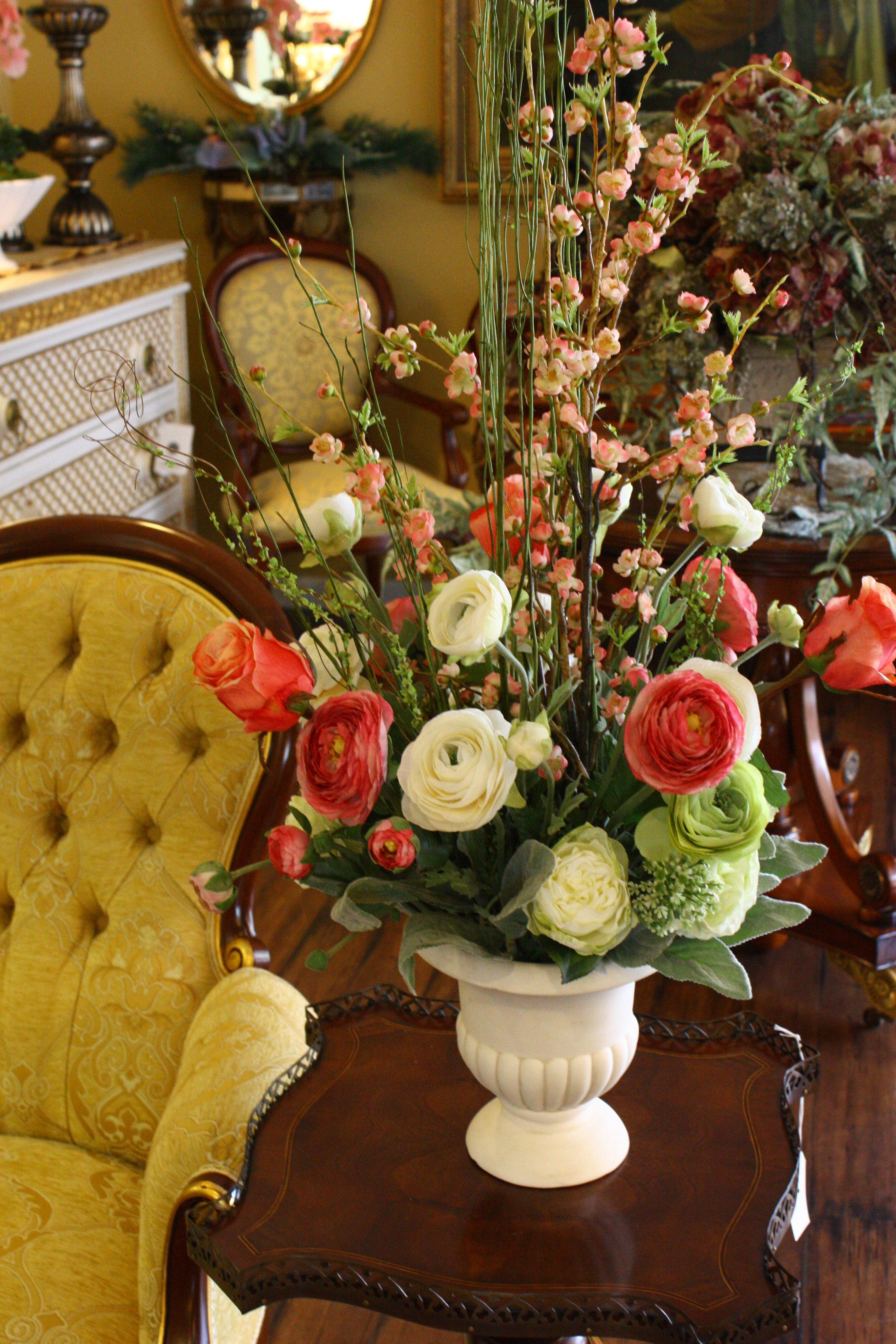Spring Silk Flower Arrangement By May Bliss Mymayblissspot