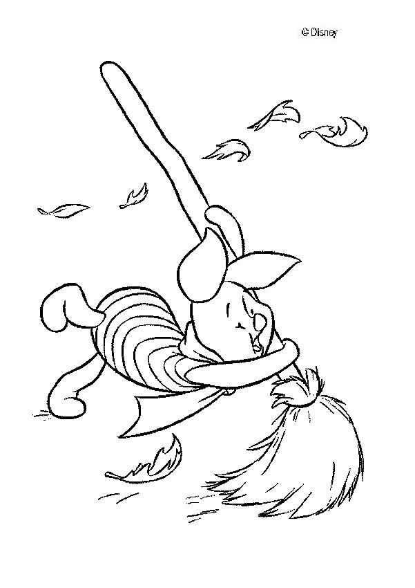piglet is flying coloring page - Coloring Pages Pigs Piglets