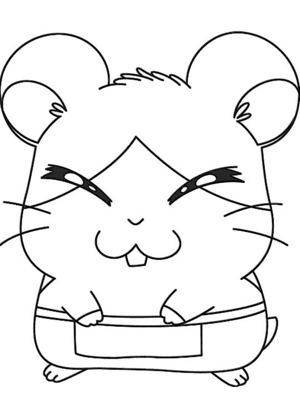 Uncategorized Hamtaro Coloring Pages hamtaro howdy smiled shyly coloring pages pinterest cute kidsdrawing free online