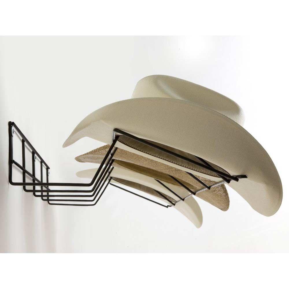 cowboy hat rack coated wire black