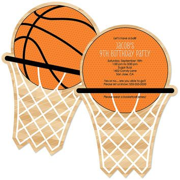 Printable Girls Basketball Party Invitations
