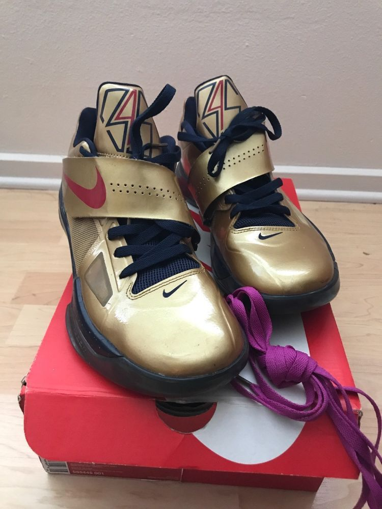 info for 2a5ad 61a8d KD 4 IV gold medal size 11 100% Authentic Basketball Nike  fashion   clothing  shoes  accessories  mensshoes  athleticshoes  ad (ebay link)