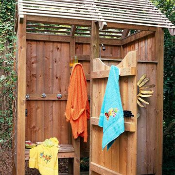 22 Pretty Pergola Ideas To Update Your Outdoor Space Outdoor Shower Garden Structures Backyard Landscaping