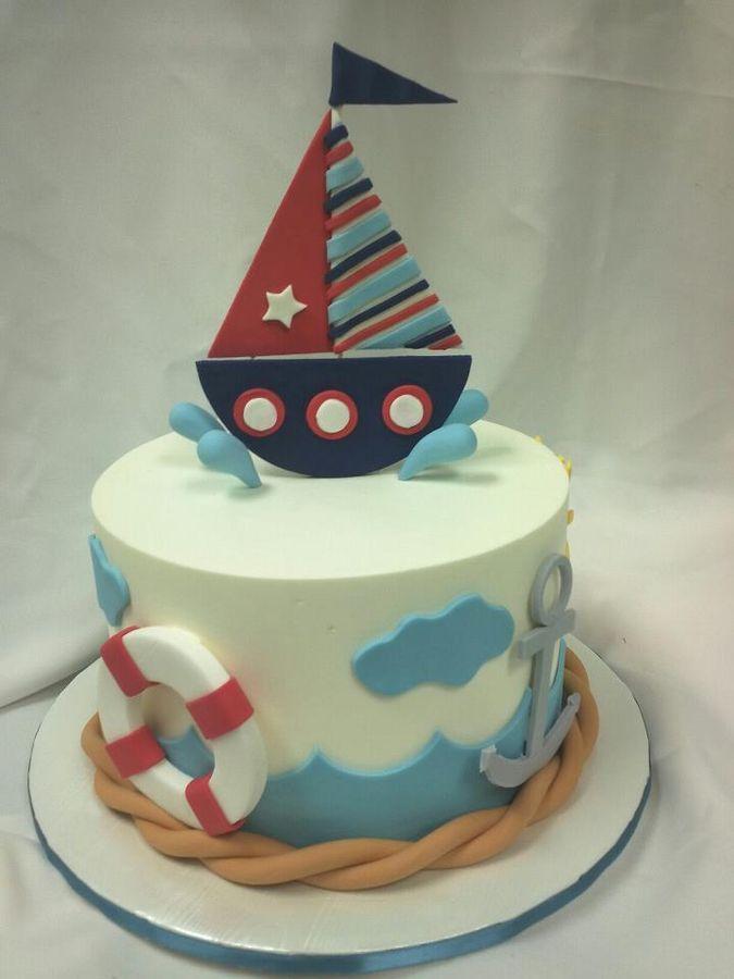 little boy bday or shower Cake Ideas Pinterest Cake Nautical