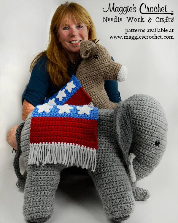 Maggie Weldon releases two new crochet designs. Vote now at www.facebook.com/... with the election app! Polls close October 23rd at 5 p.m. Patterns available at www.maggiescroche...