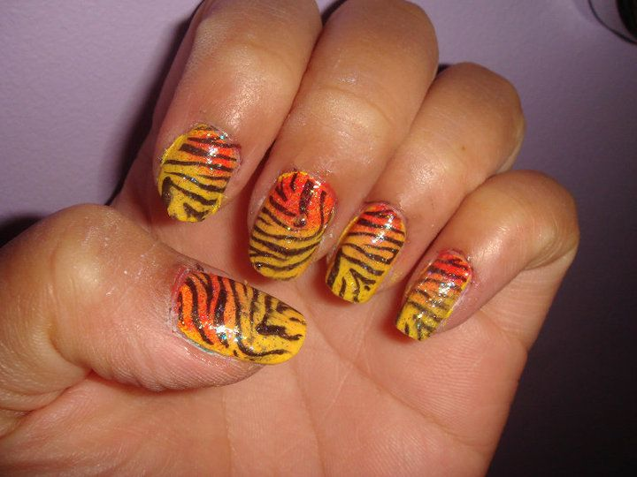 Tiger Nail Art Rawr Nailartcouturespot Beauty