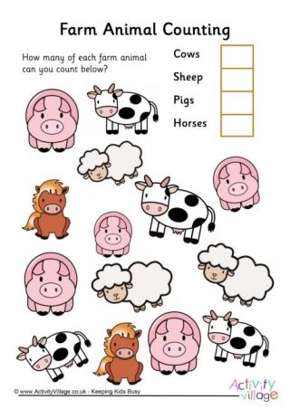 Animal Counting Worksheets Farm Animals Preschool Farm Activities Preschool Farm Animals Theme Farm animals pre k worksheets