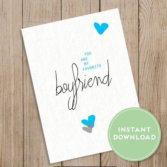Favorite Boyfriend Card Printable Valentine Boyfriend Card