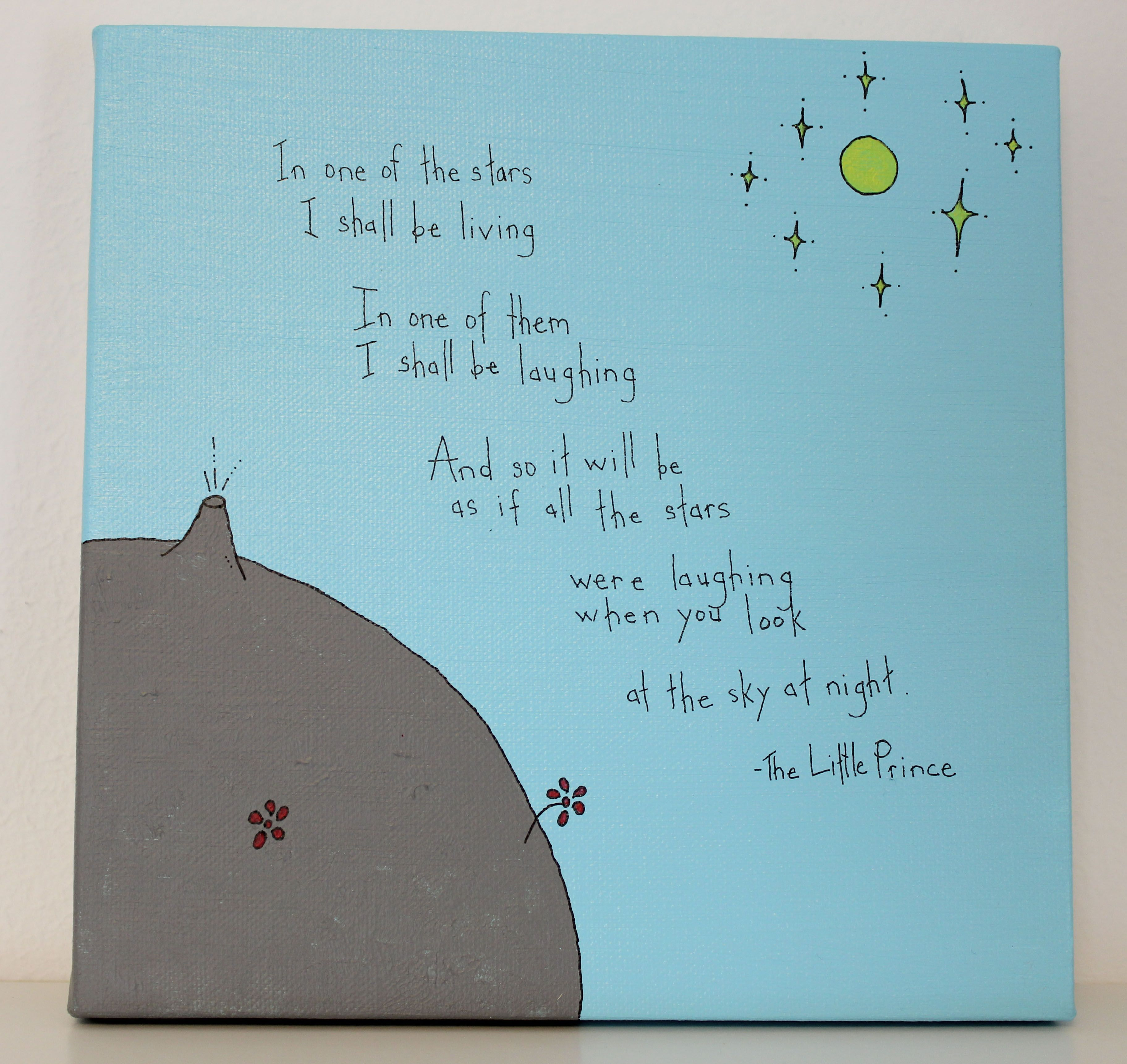Little Prince Love Quotes Bygecka The Little Prince Quote Painting  Bygecka Life And Love
