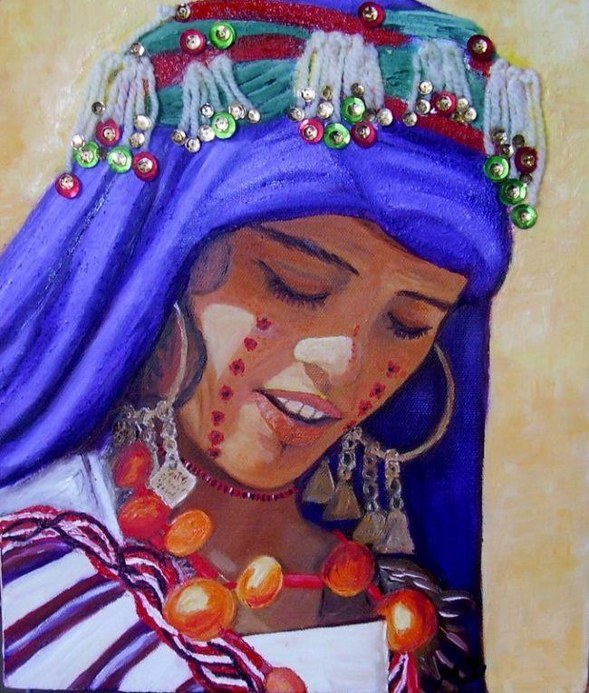 Peinture marocaine peinture pinterest recherche google tableau et album for Peinture salon maroc violet