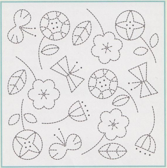 Sashiko Embroidery Kit | Olympus Sashiko Embroidery Pattern, Traditional Japanese Design -Sashiko Sa