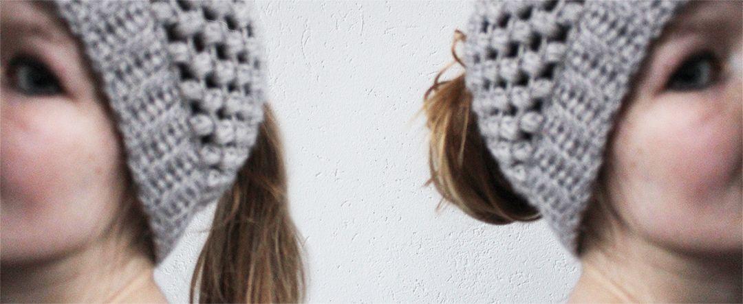 Puff stitch bun hat - free crochet pattern Made by Wilma | Crochet ...