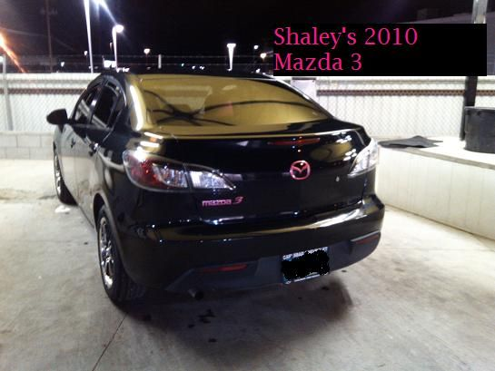 My 2010 Mazda 3. Hot Pink Custom Painted Emblems, Konig Black And Silver  Rims. This Is My First New Car And I Love It!!!