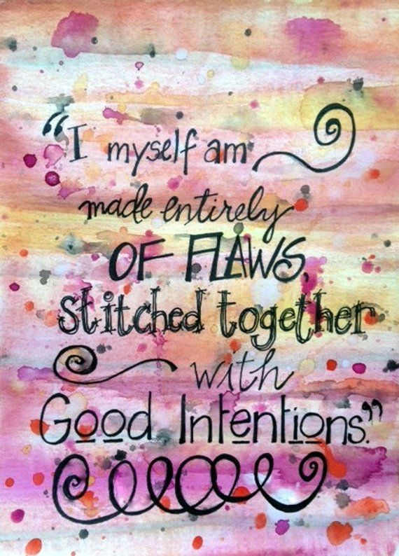 I Myself...Original Watercolor Painting, Hand Lettered & Unique. 9x12 Unframed Inspirational Art wit