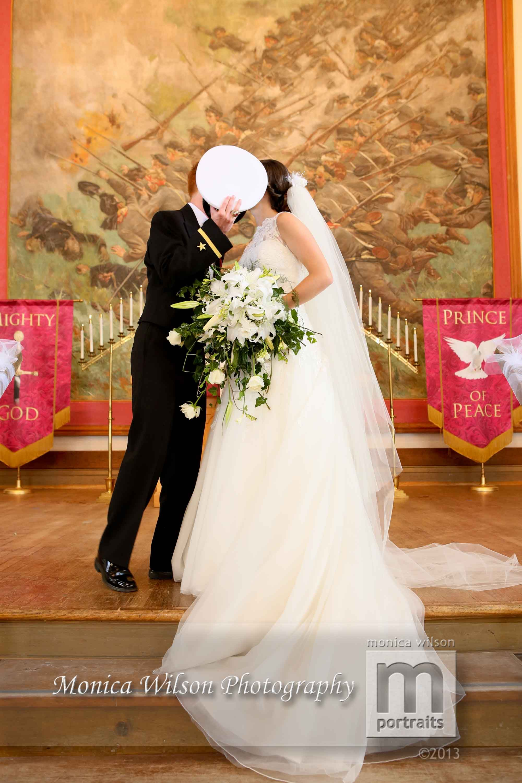 Wedding VMI Chapel Bride and Groom Monica Wilson