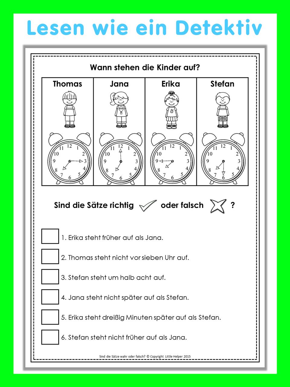 german reading challenge richtig oder falsch 24 leser tsel german resources pinterest alem n. Black Bedroom Furniture Sets. Home Design Ideas