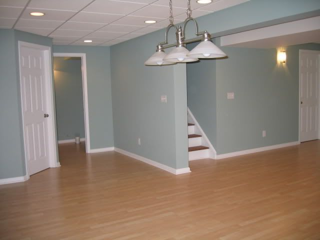 Blue Green Paint Colors bm wythe blue, here it is in my basement. i love it! it has enough