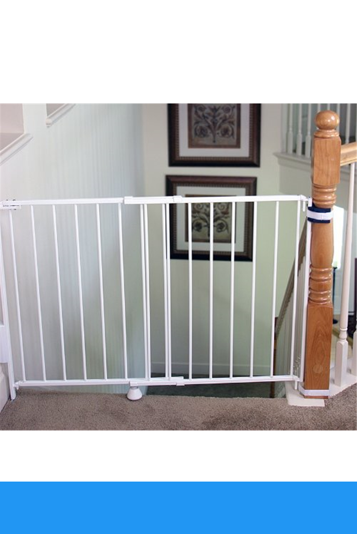 Regalo 2 In 1 Stairway And Hallway Wall Mounted Baby Gate