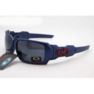 Cheap Oakley Oil Rig Sunglasses deep blue frame black lens sale on oakley