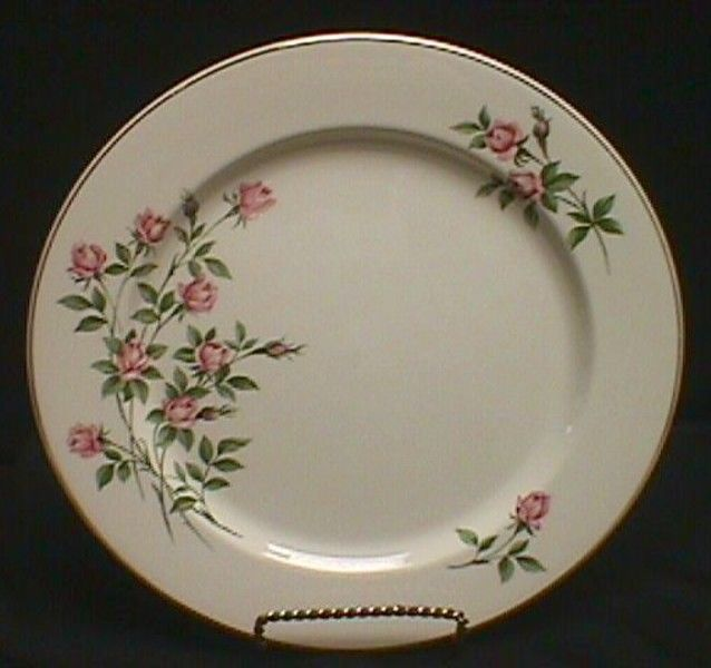 Set Of Four Knowles Sweetheart Rose Dinner Plates #Knowles
