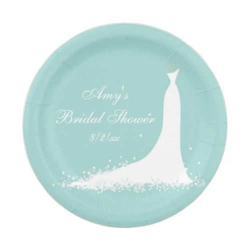 Elegant Wedding Gown Bridal Shower Custom Paper Plate  sc 1 st  Pinterest & Elegant Wedding Gown Bridal Shower Custom Paper Plate | Elegant ...