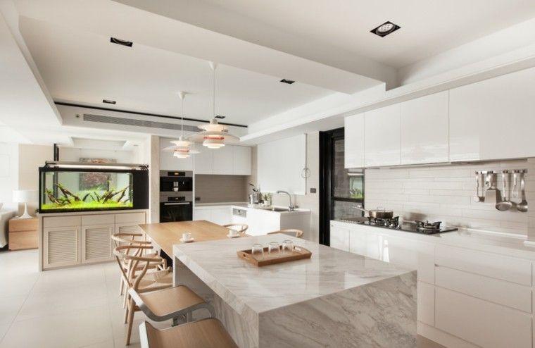 encimeras de cocina marmol madera Interiores para cocina Pinterest