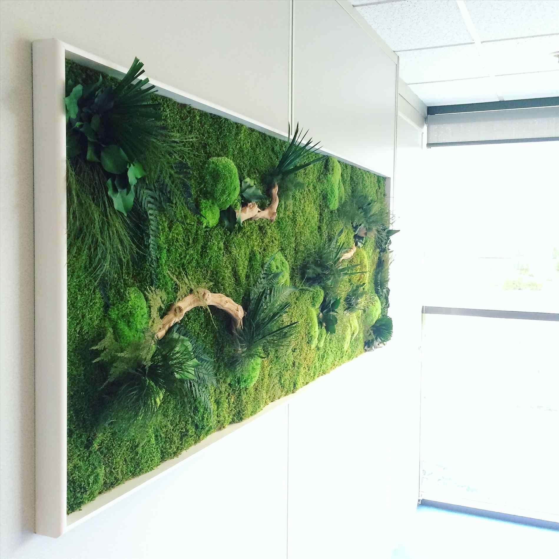 diy moss wall hanging