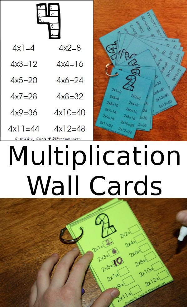 FREE Multiplication Wall Cards (2 versions)   Pinterest ...