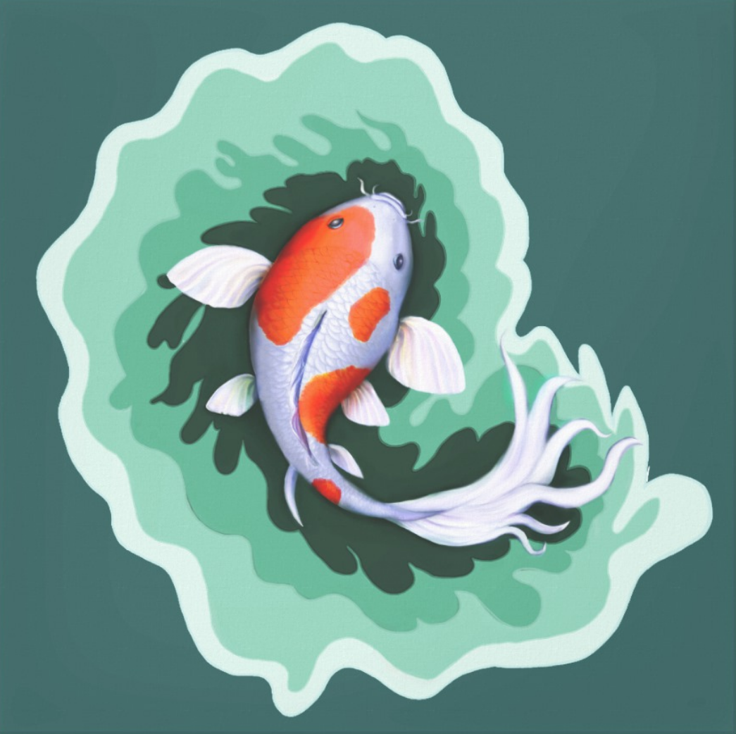 Koi Carp Artwork Canvas Print Zazzle Com In 2021 Koi Fish Fish Fish Painting