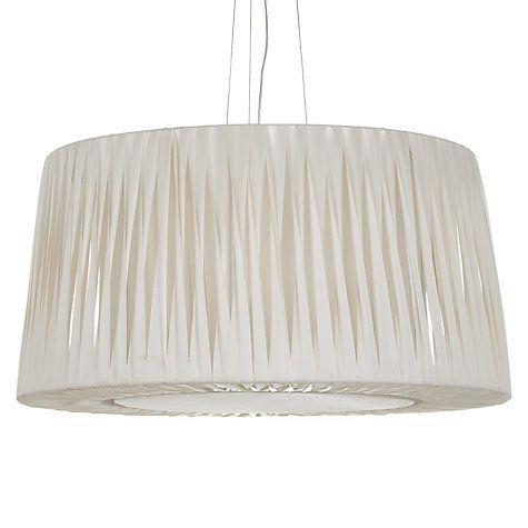 Buy John Lewis Puri Twist Pleat Ceiling Light, Soft Ivory Online at johnlewis.com
