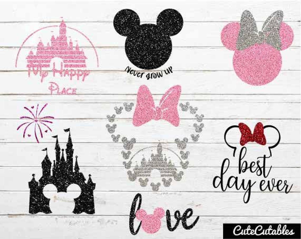 Disney svg bundle/vinyl designs for cricut/ t shirt bundle