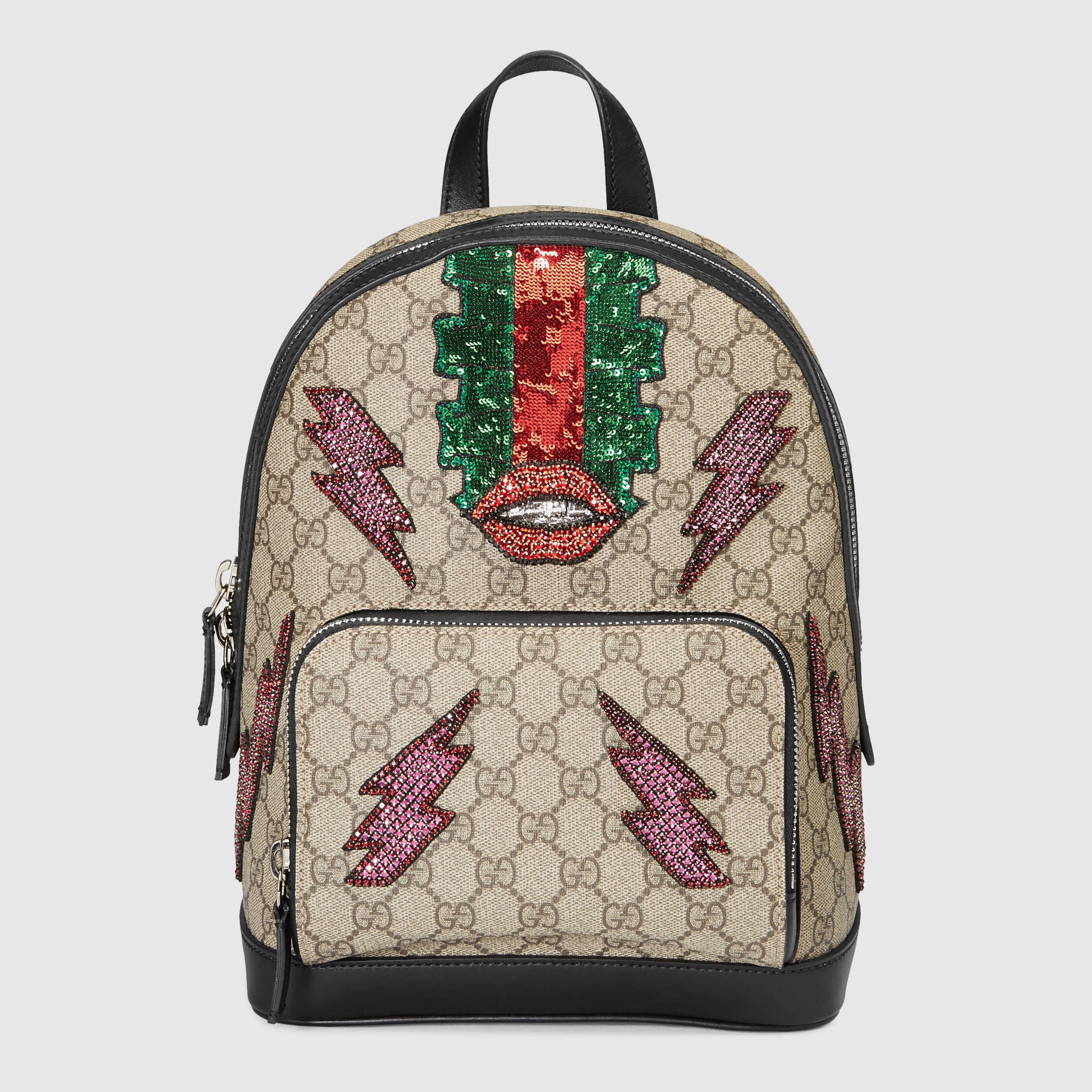 gucci women beaded sky gg supreme backpack k05an8644