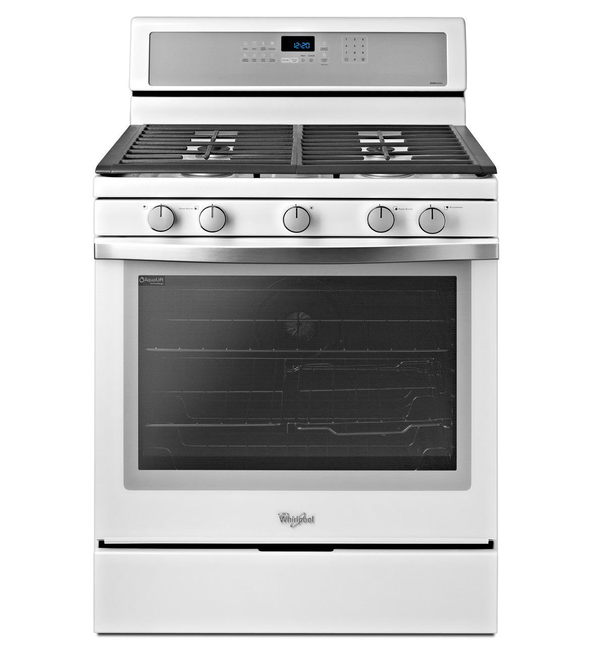 Whirlpool white ice line - Whirlpool Gold 5 8 Cu Ft Capacity Gas Range With Rapid Preheat Option In White