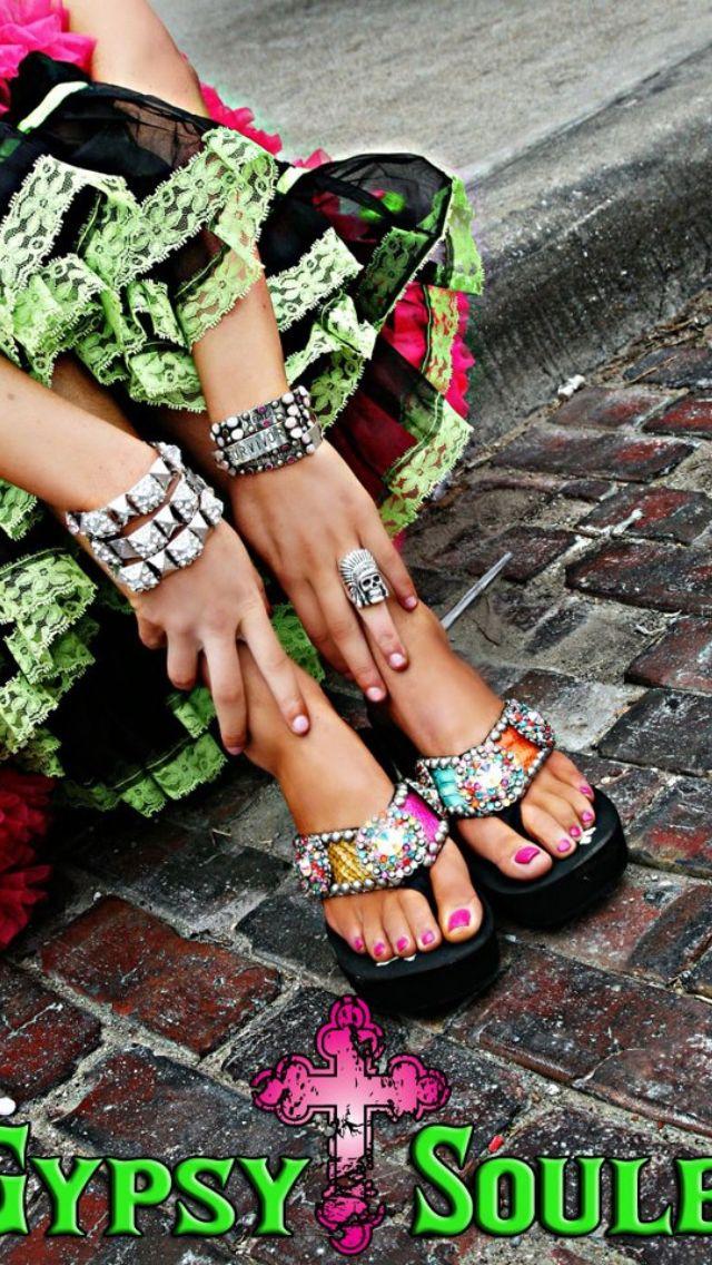 772b27ffe20d18 Gypsy soule flip flops  ) love these www.gypsysoule.com