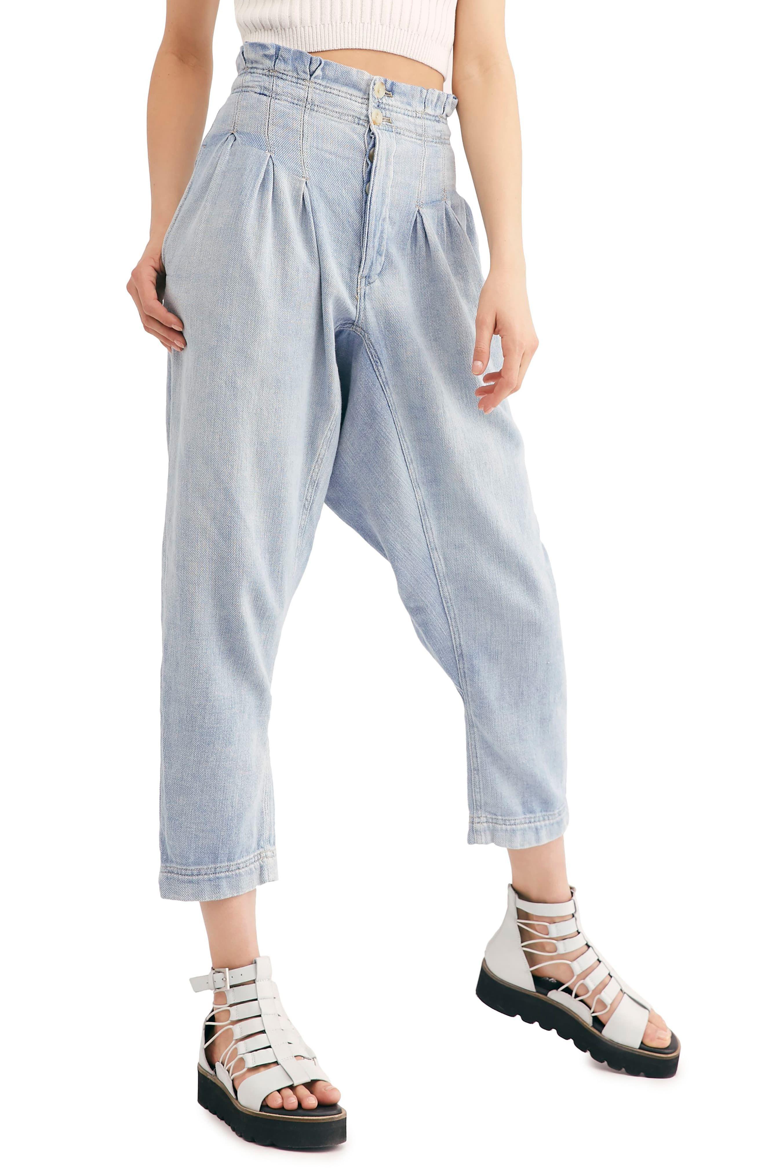 Free People Mover & Shaker Tapered Crop Denim Pants | Denim