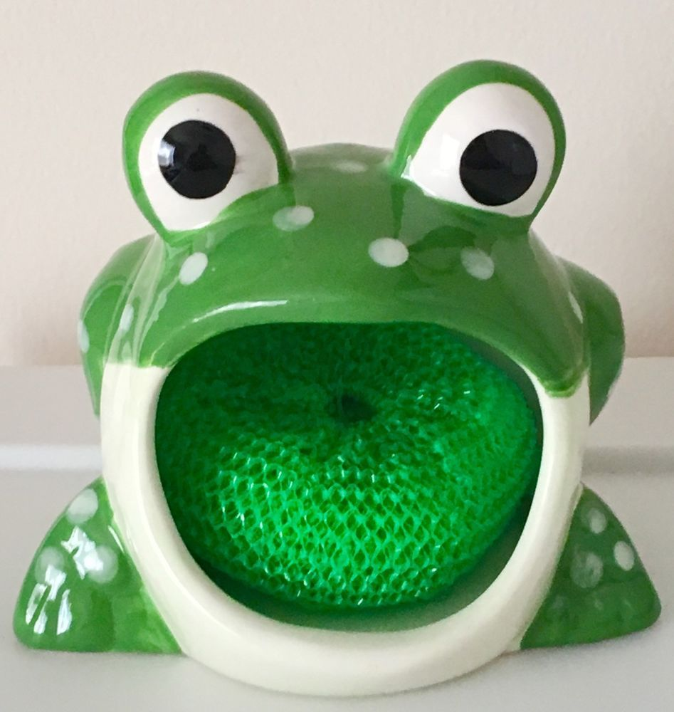 Decorative Frog Decor With Sponge Included. Just The Right Size To Put On  Your Kitchen