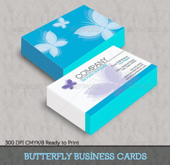 Blue Butterfly Business Cards  Blue Butterfly Business Cards And