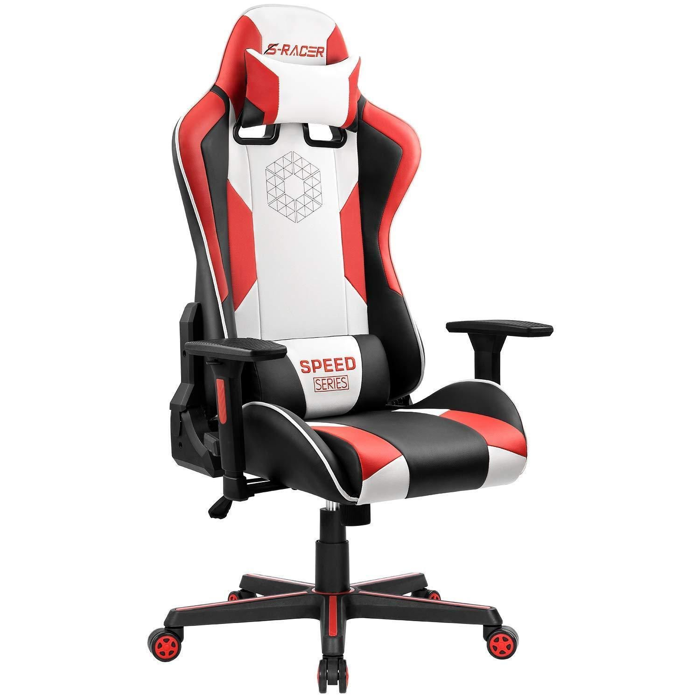 Homall pu leather ergonomic game racing chair chair pu