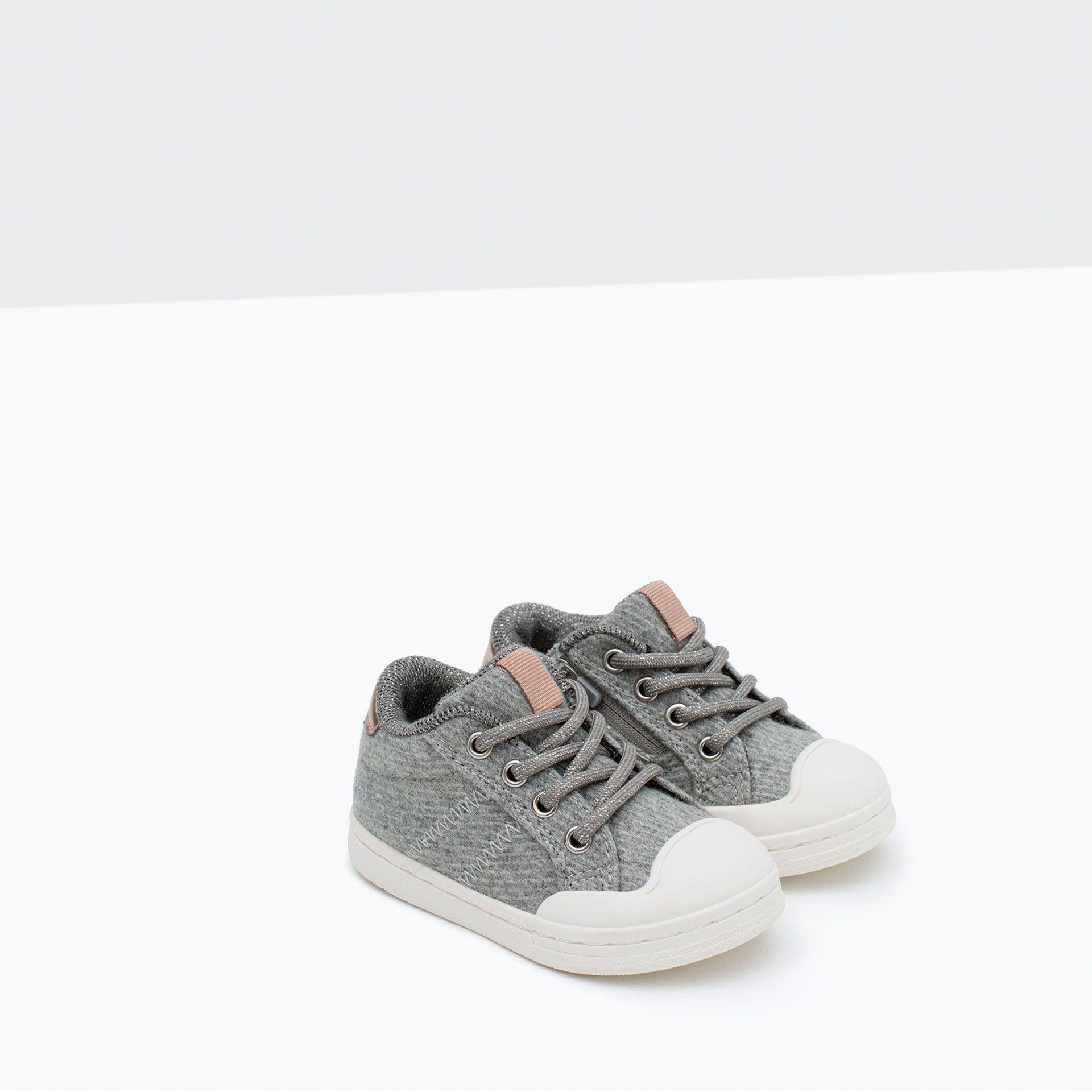 Tekstylne Tenisowki Z Ozdobnym Noskiem Buty Niemowle Dziewczynka 3 Miesiace 3 Lata Dzieci Sneakers Zara Baby Shoes