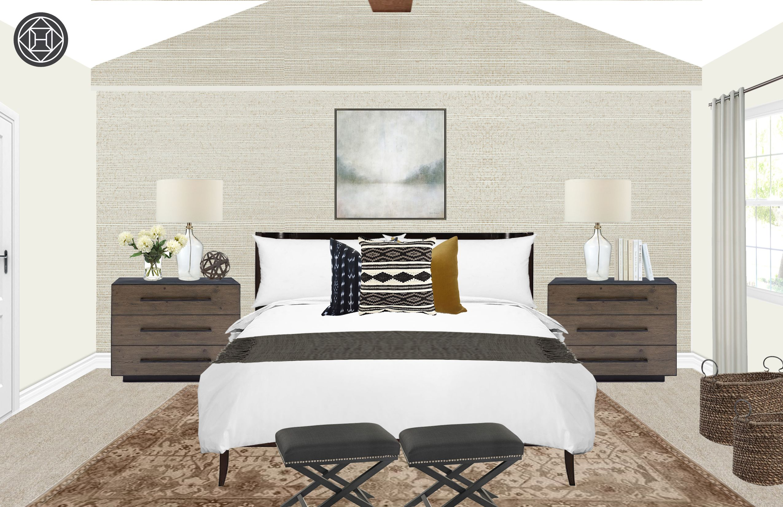 Classic, Eclectic, Transitional Bedroom Design by Havenly