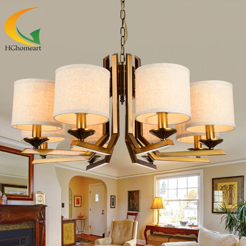 Minimalist Living Room American Pastoral Chandeliers Living Room New Lamp Bedroom 2018