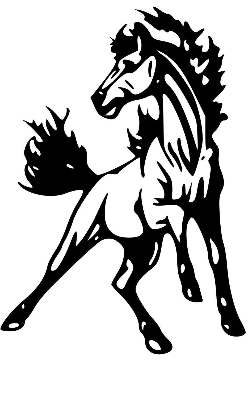 Horse Trailer Trailer Decal Horse Mustang Decal Horse