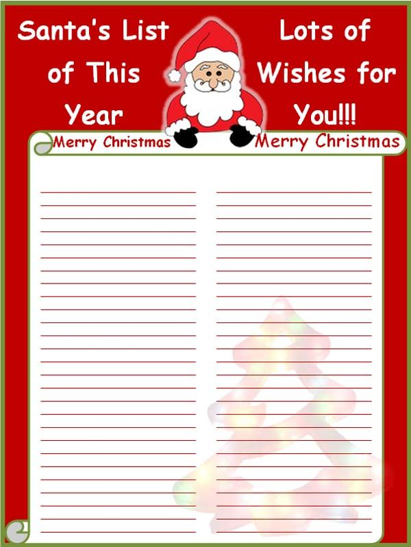 A christmas card list template makes the process of organizing and - christmas list templates