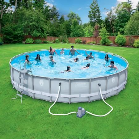 Coleman power steel 26 39 x 52 frame swimming pool set go - Above ground swimming pools walmart ...