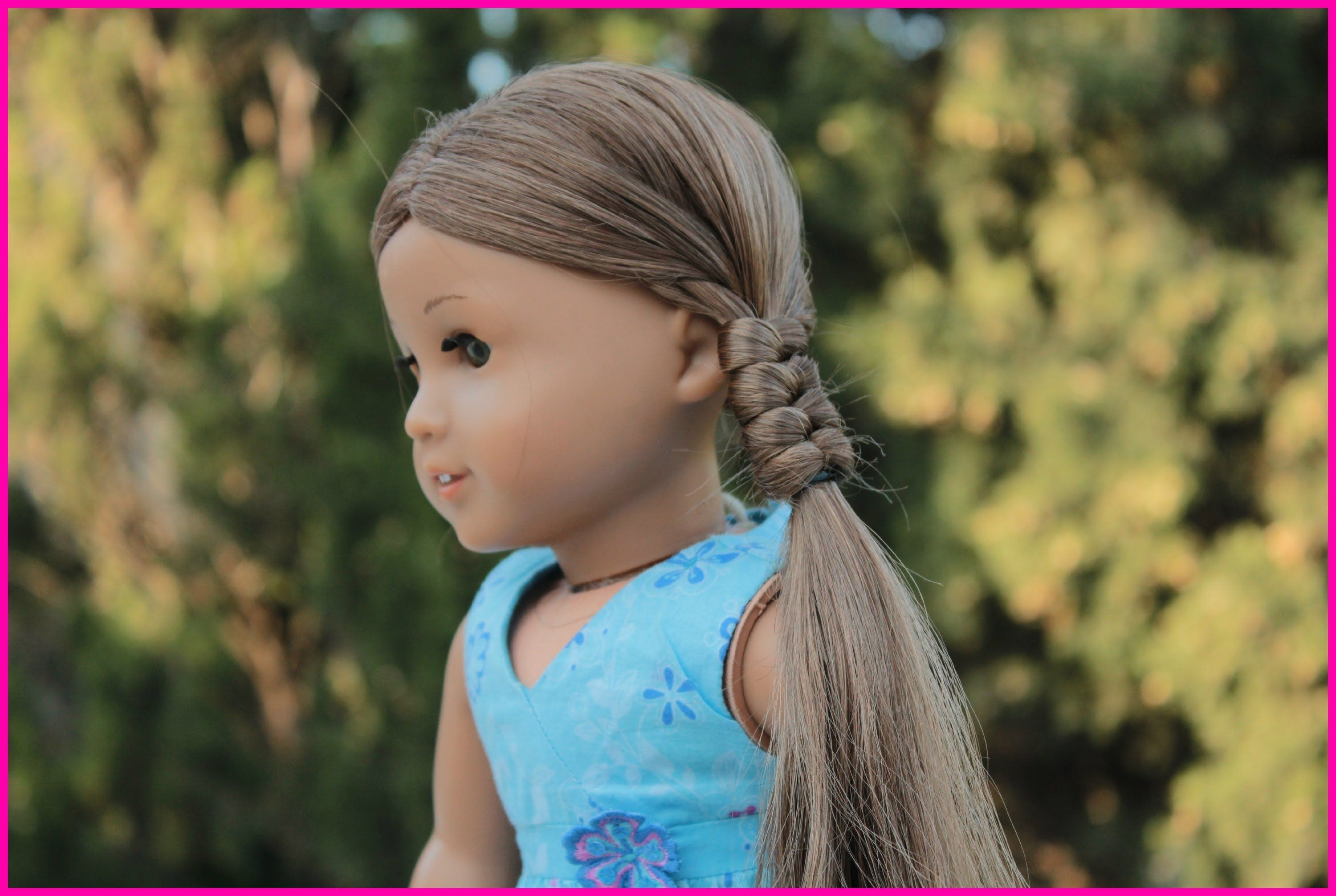 tutorial of how to do a friendship braid on your ag dolls